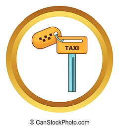 Keys to taxi vector icon