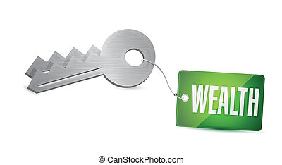 Keys to Wealth Concept Illustration design