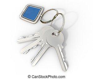 Keys with blue pendant