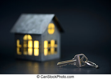 Keys with house model