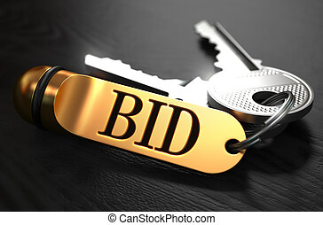 Keys with Word Bid on Golden Label.