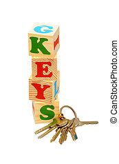 Keys Wooden Blocks