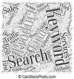 keyword, pesquisa, que, trabalhos, palavra, nuvem, conceito