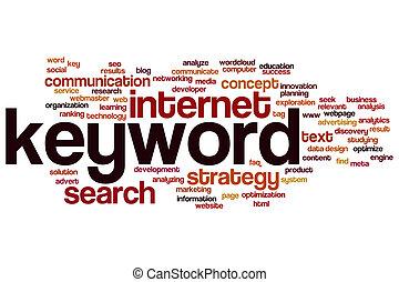 Keyword word cloud - Keyword concept word cloud background