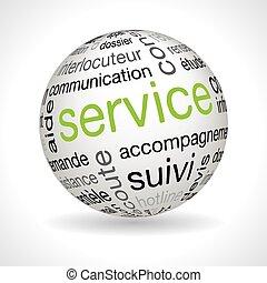 keywords, esfera, francés, servicio