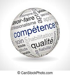keywords, esfera, tema, competencia, francés