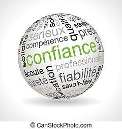 keywords, esfera, tema, confianza, francés
