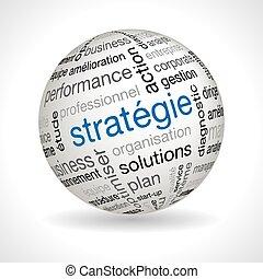 keywords, esfera, tema, francés, estrategia