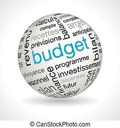 keywords, esfera, tema, presupuesto, francés