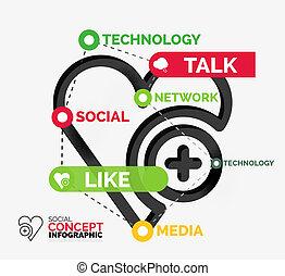 keywords, infographic, lik, social