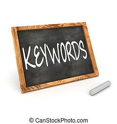 keywords, pizarra