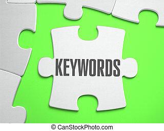keywords, -, rompecabezas, con, perdido, pieces.