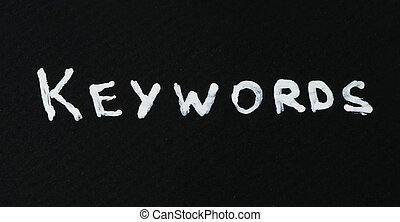 Keywords white text conception over black