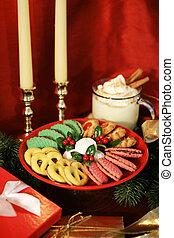 kezel, karácsony, függőleges