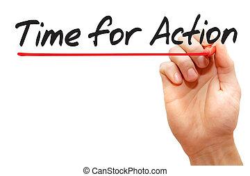 kezezés írás, idő, helyett, akció, ügy fogalom
