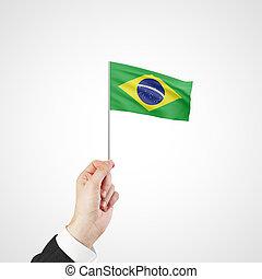 kezezés kitart, lobogó, közül, brazília