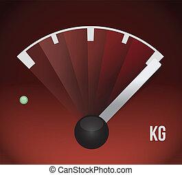kg weight gas tank illustration