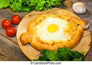 khachapuri, cartolina formaggio, adjara, bread