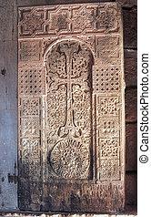 khachkar in Noravank monastery, Armenia