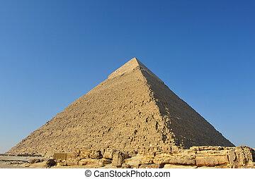 Khafre pyramid in Giza necropolis, Egypt