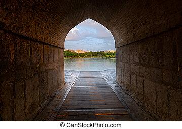 Khaju Bridge in Isfahan. Iran