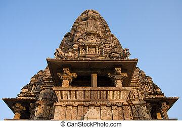 khajuraho, erotyk, india., świątynia