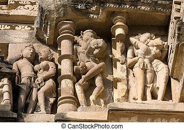 khajuraho, india., świątynia