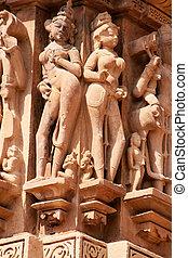 khajuraho, szczegół, świątynia