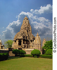 khajuraho, temple., indie