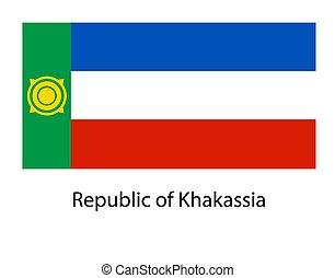 Khakassia flag on transparent background. Khakassia flag Template for independence day