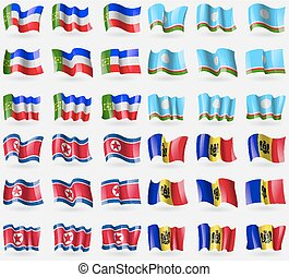 Khakassia, Sakha Republic, Korea North, Moldova. Set of 36 ...