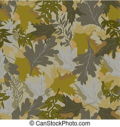 khaki background with autumn leaves