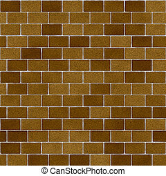 Khaki Brown Clay Bricks Seamless Texture