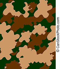 Combat soldier khaki camouflage seamless background.
