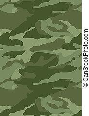 Khaki camouflage repeat pattern. Illustrator swatch of...