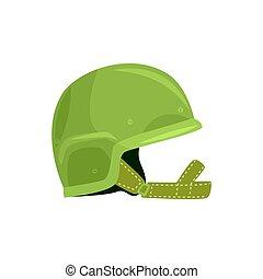 Khaki military helmet. Metallic army symbol of defens vector Illustration