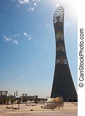 Khalifa Sports Stadium - Outside Khalifa sports stadium in ...