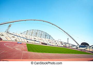 Khalifa Sports Stadium - Inside Khalifa sports stadium in...