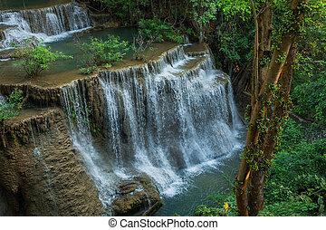khamin, 滝, thailand., kanchanaburi, mae, huai