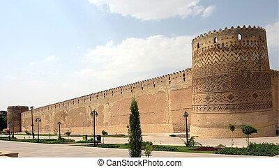 khan, cidadela, irã, karim, shiras