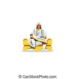 Khan of the Golden Horde sign. Vector Illustration. -...