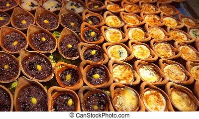 Khanom Maw Kaeng (Thai dessert) at the market