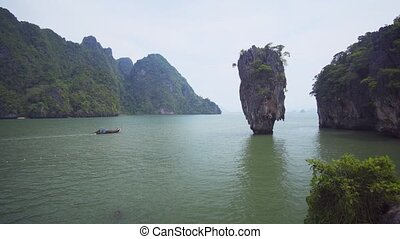 Khao Phing Kan, better known as James Bond Island, in southern Thailand