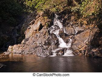 khao, sok, parco, cascata, tailandia, nazionale