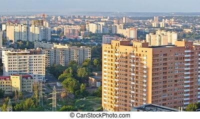 Kharkiv city from above timelapse. Ukraine. - Kharkiv city...
