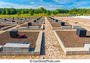 Khatyn, Belarus - 20 August 2015: memorial complex Khatyn, cemetery annihilated villages