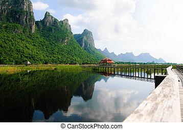 khiri, bridzs, légvédelmi rakéta, roi, kán, nemzeti, yod, tó, liget, prachuap, thaiföld