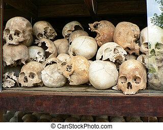 khmer, 胭脂, cambodia., 监狱