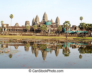 khmer, architecture, temple bayon, wat angkor, , siem,...