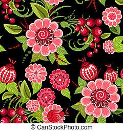Khokhloma floral seamless